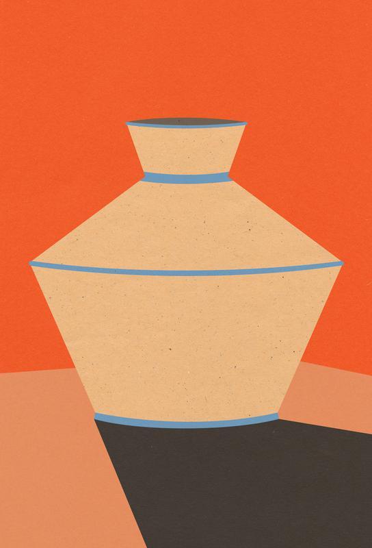 Tonkrug -Acrylglasbild