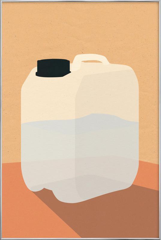Plastikkanister -Poster im Alurahmen