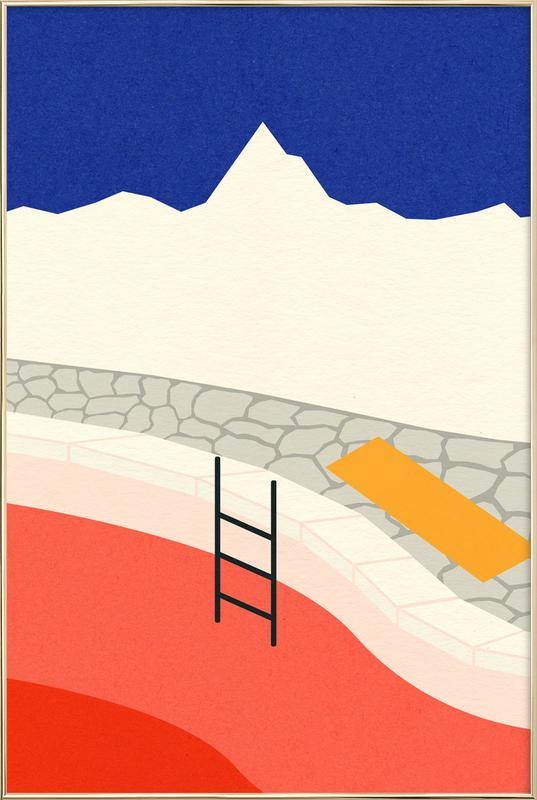 Mountain Yoga Retreat poster in aluminium lijst