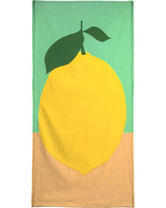 Lemon with Two Leaves -Strandtuch