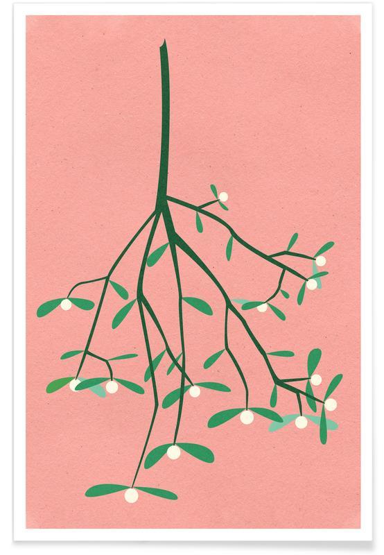Weihnachten, Blätter & Pflanzen, Mistletoe -Poster