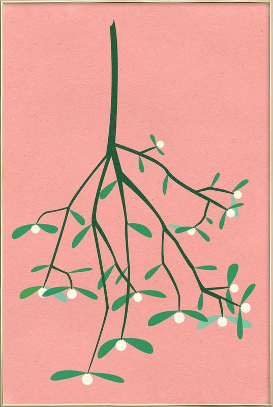 Mistletoe -Poster im Alurahmen