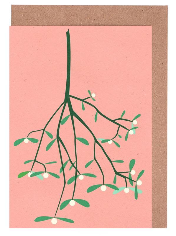 Mistletoe -Grußkarten-Set