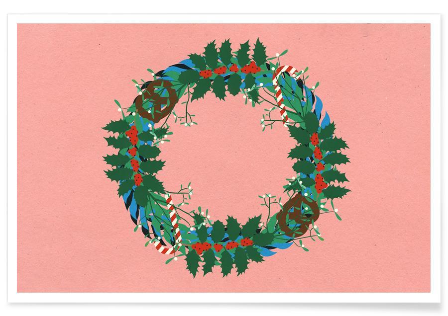 Noël, Winter Wreath affiche