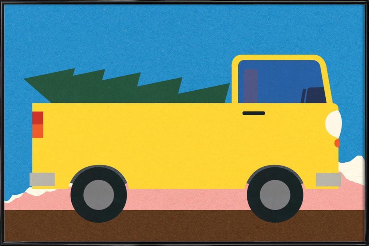 Truck & Tree -Bild mit Kunststoffrahmen