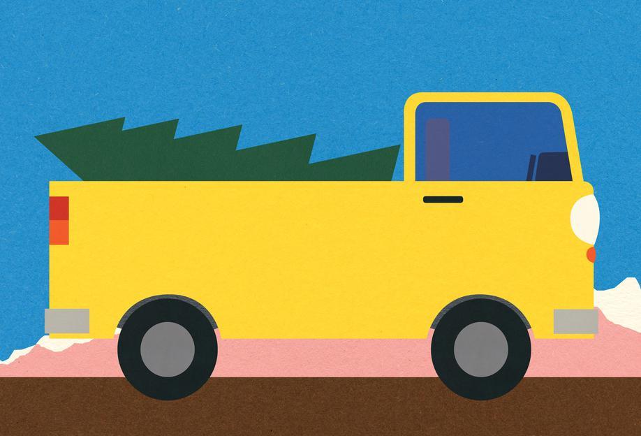 Truck & Tree Acrylic Print