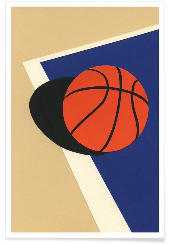 Basket-ball, Art pour enfants, Oakland Basketball Team affiche