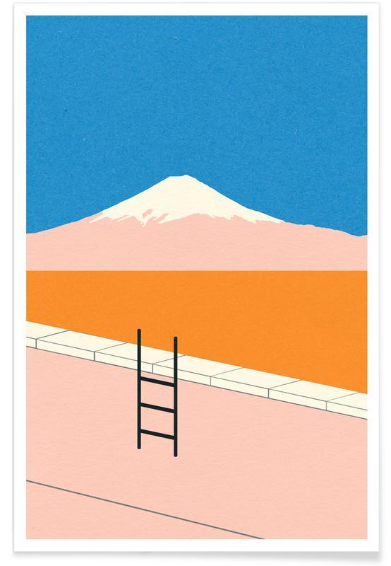 Mountains, Fuji Pool Poster