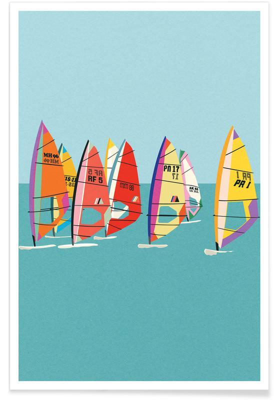 Oceanen, zeeën en meren, Baltic Sea Windsurfing poster