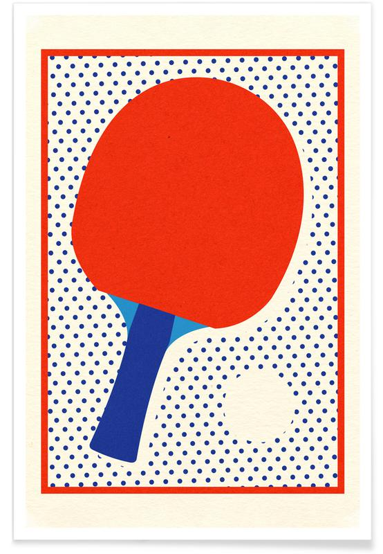 , Ping Pong Dots Poster