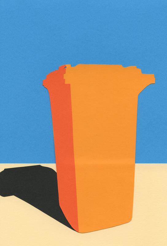 Orange Garbage Bin Acrylic Print