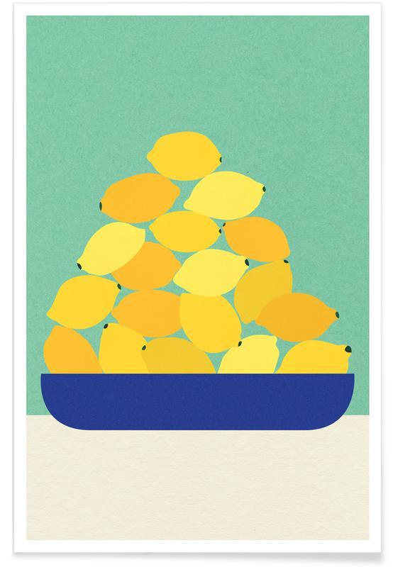 Zitronen, Sicily Lemons -Poster