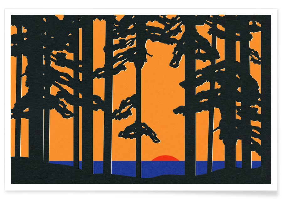 Abstrakte Landschaften, Baltic Sea Sunrise -Poster