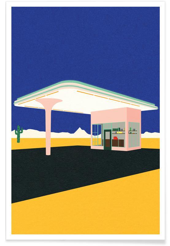 , Texas Desert Gas Station -Poster