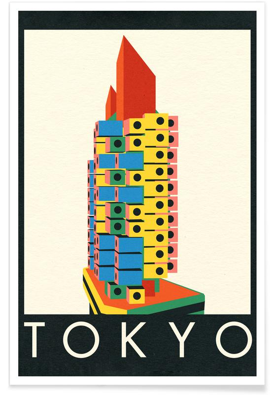 Tokyo, Tokyo Capsule Tower Poster