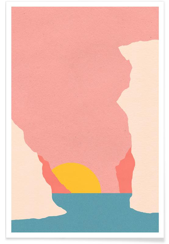 Abstract Landscapes, Sunset In Crete Poster