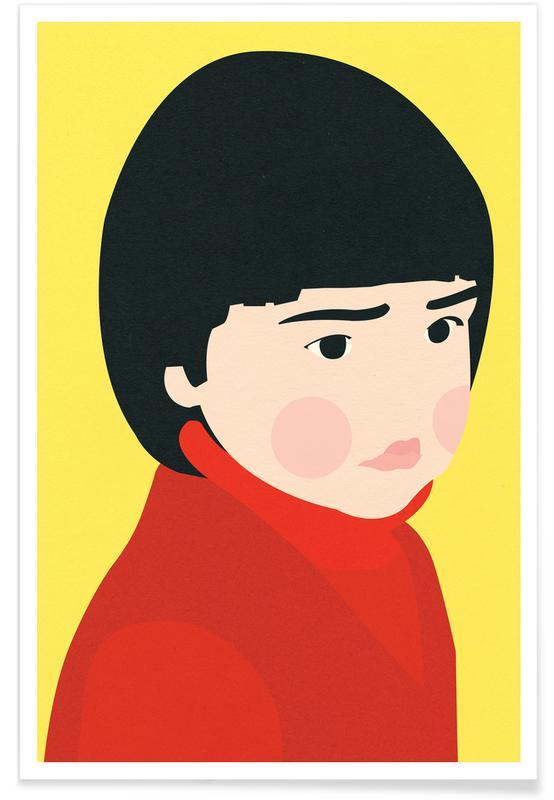 Portraits, Nursery & Art for Kids, Osaka Girl Poster