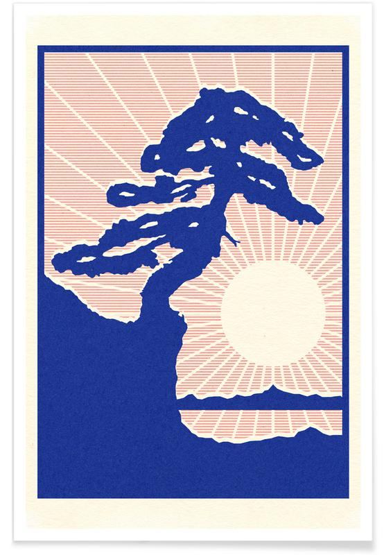 Trees, Abstract Landscapes, Montana De Oro State Park Poster