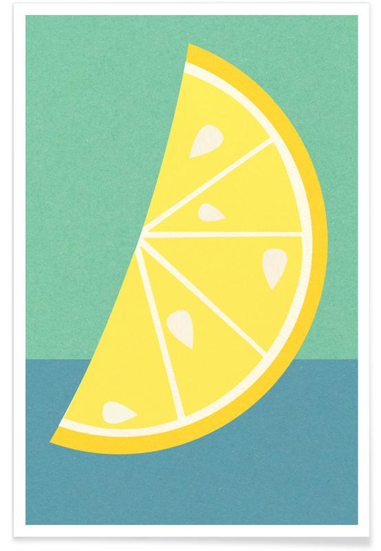 Zitronen, Lemon Slice -Poster