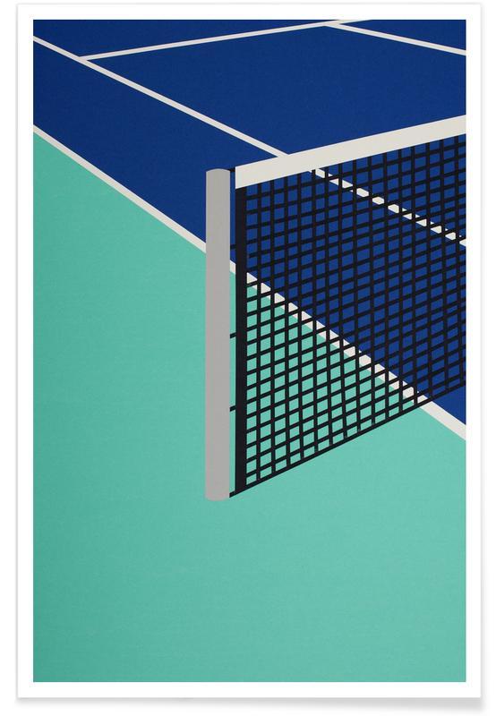 Kunst voor kinderen, Tennis, Architectonische details, Arizona Tennis Club poster