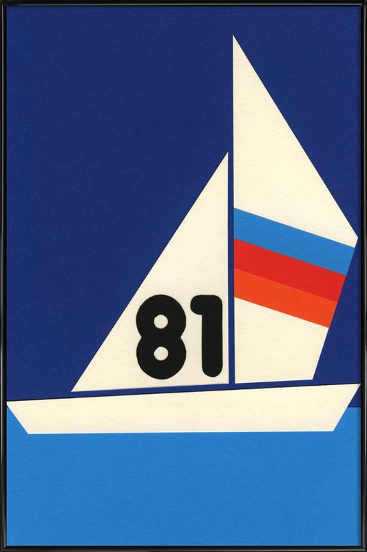 Sailing Regatta 81 -Bild mit Kunststoffrahmen