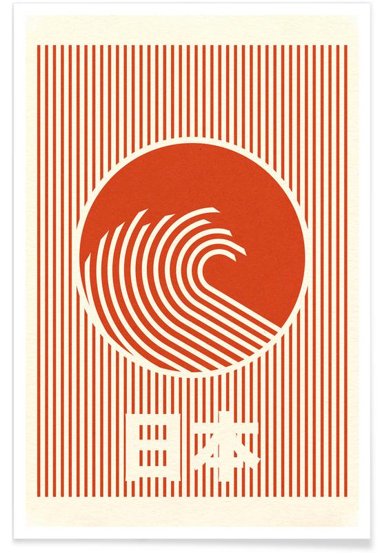 Abstract Landscapes, Great Wave Of Nippon Poster