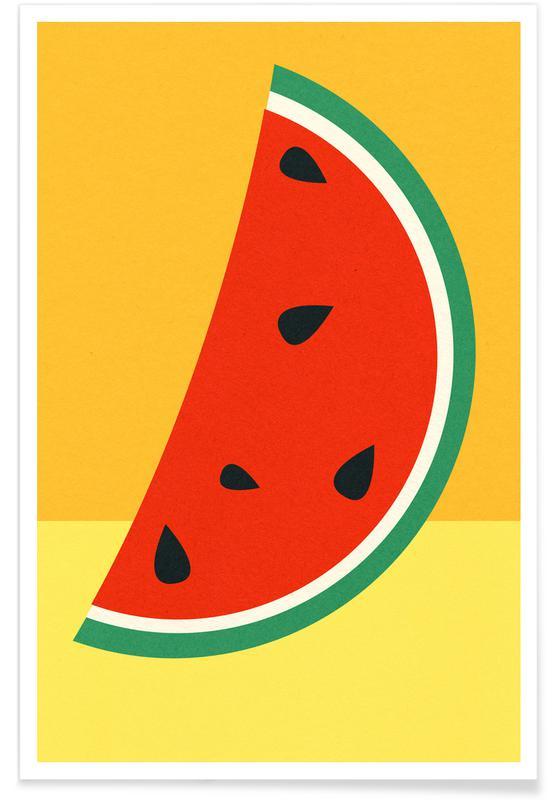 Wassermelonen, Melon Slice -Poster