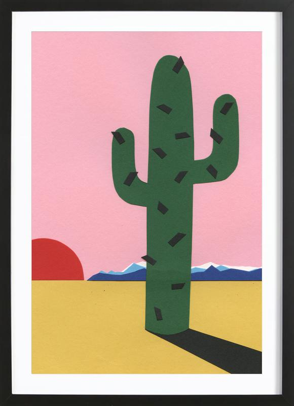 Sierra Nevada affiche sous cadre en bois