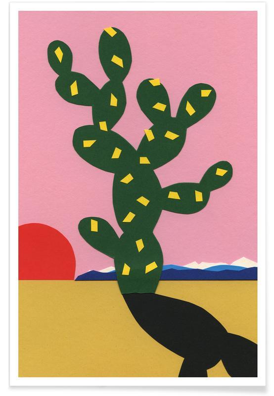 Kaktus, Kinderzimmer & Kunst für Kinder, Sierra Nevada III -Poster