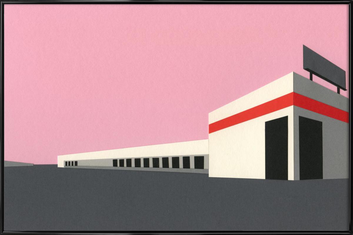 Sunset Warehouse Framed Poster