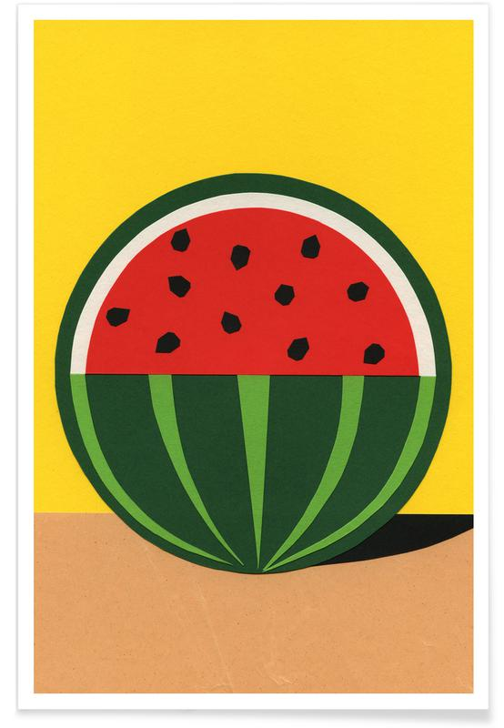 Nursery & Art for Kids, Watermelons, Three Quarter Melon Poster