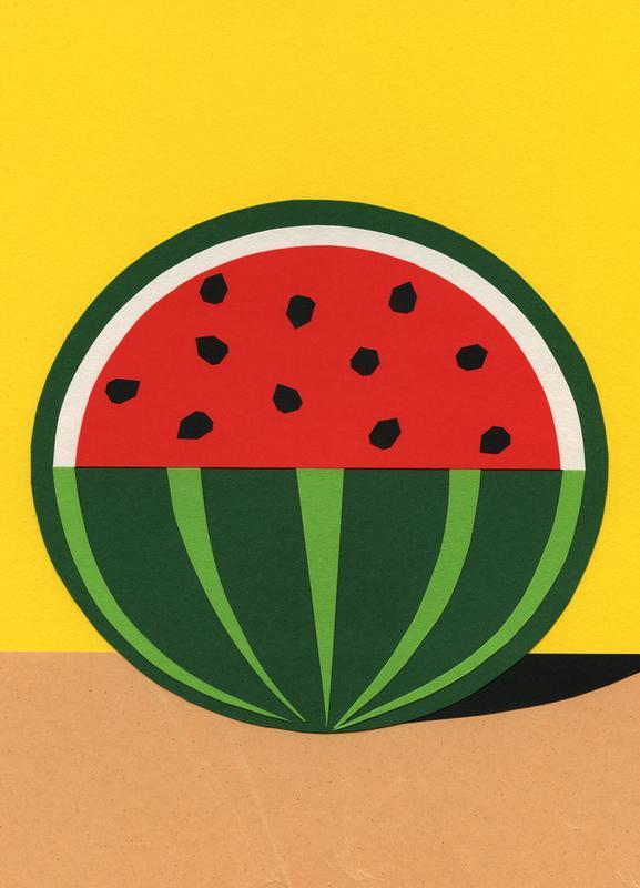 Three Quarter Melon Canvas Print