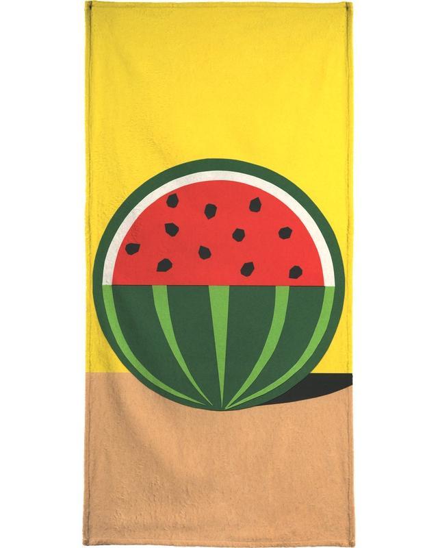 Kinderzimmer & Kunst für Kinder, Wassermelonen, Three Quarter Melon -Handtuch