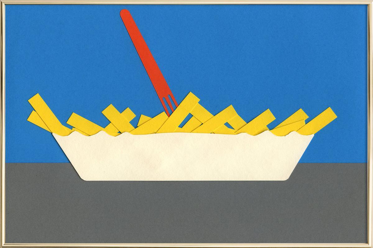 Waterpark Fries -Poster im Alurahmen
