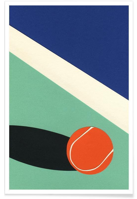Tennis, Kinderzimmer & Kunst für Kinder, Architekturdetails, Arizona Tennis Club II -Poster
