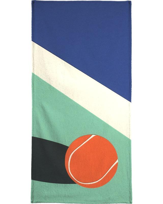 Détails architecturaux, Art pour enfants, Tennis, Arizona Tennis Club II serviette de plage