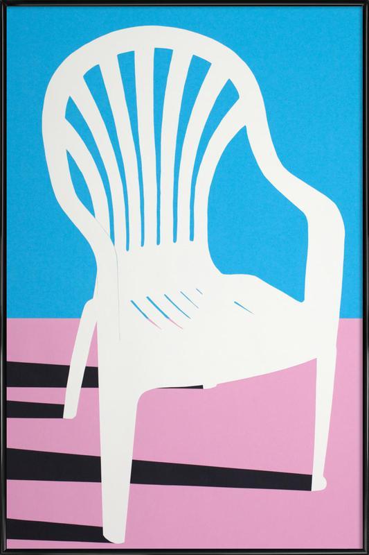White Plastic Chair Framed Poster