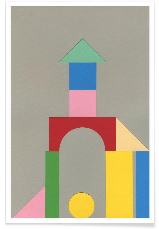 Kinderzimmer & Kunst für Kinder, Bauhaus Tower -Poster