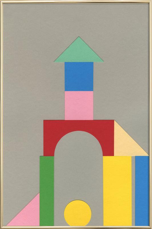 Bauhaus Tower -Poster im Alurahmen