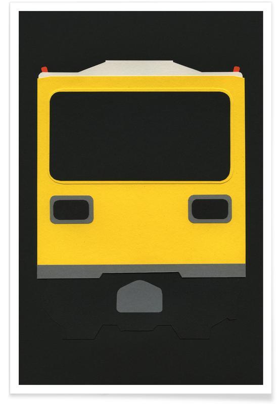 Berlijn, Treinen, Berlin Subway Car GI E1 poster