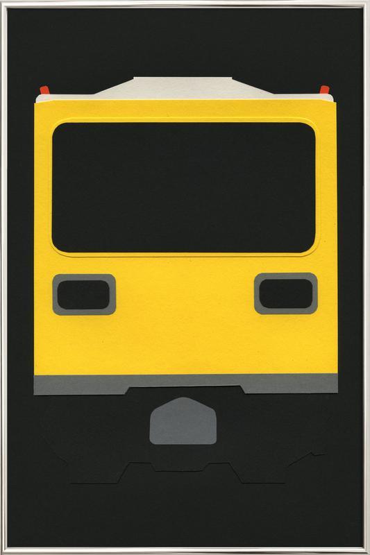 Berlin Subway Car GI E1 -Poster im Alurahmen