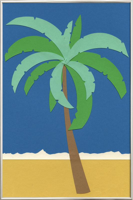 Desert Palm -Poster im Alurahmen