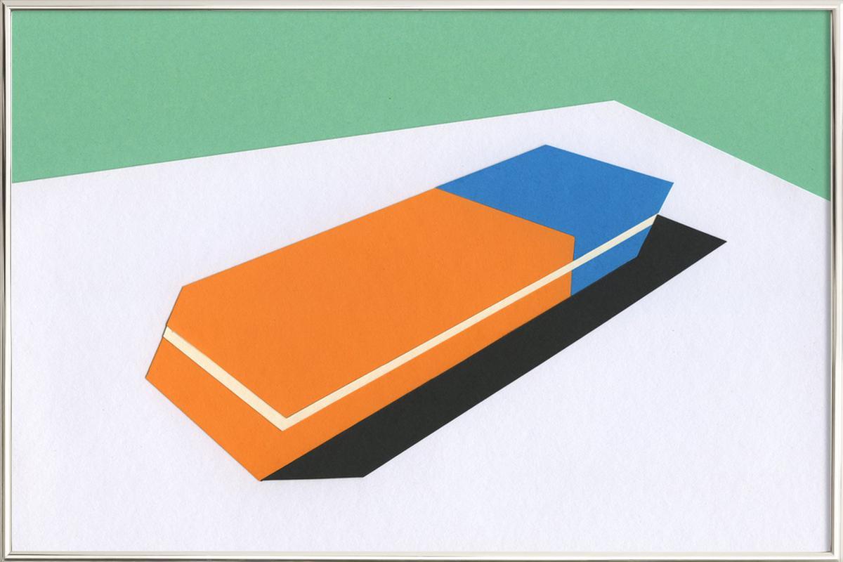 Eraser Poster in Aluminium Frame