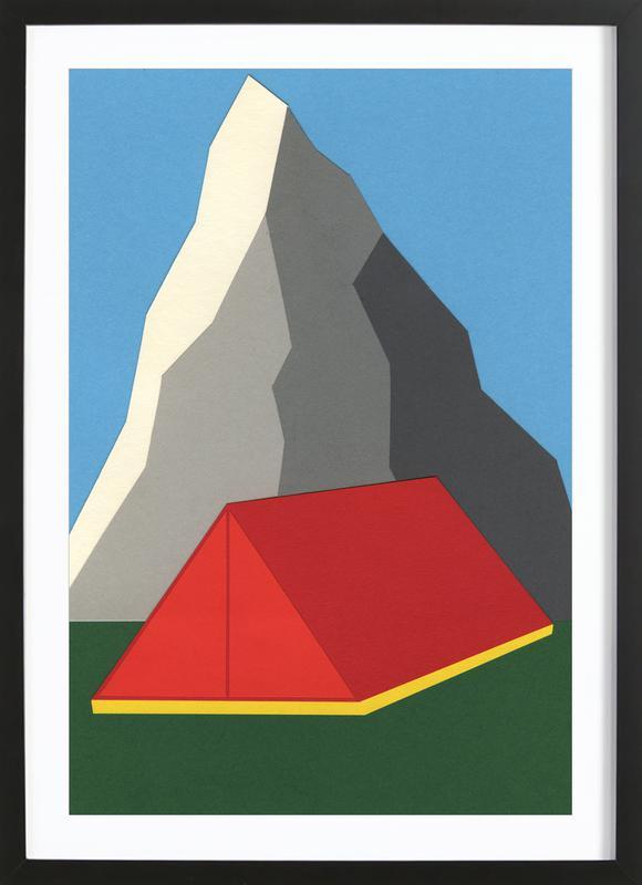 Camp Mount Whitney ingelijste print
