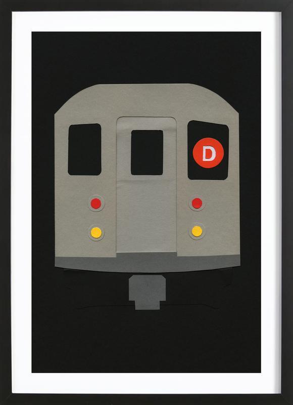 New York Subway Car R62 Framed Print