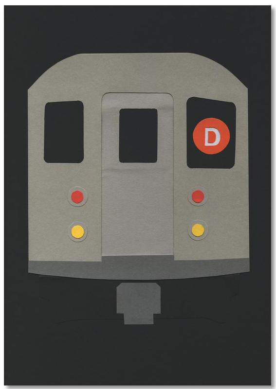 New York, Trains, New York Subway Car R62 bloc-notes