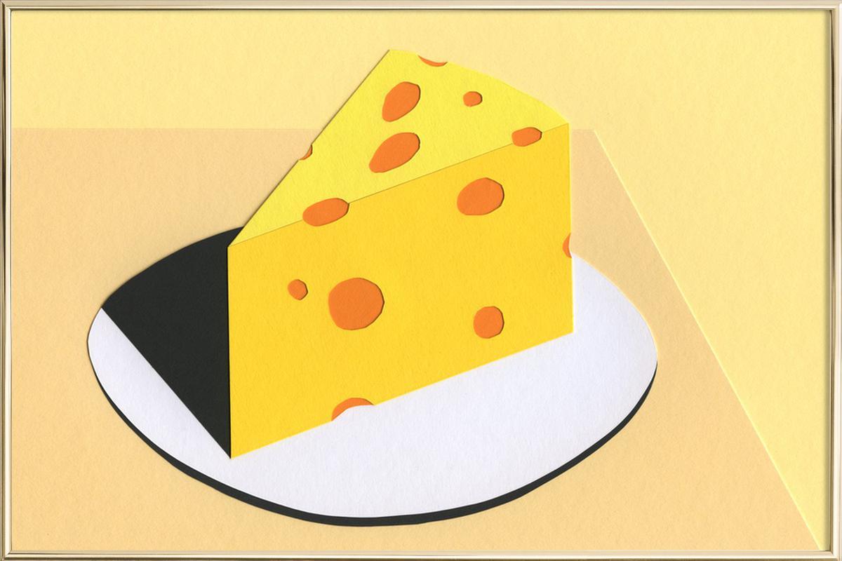 Piece Of Cheese -Poster im Alurahmen