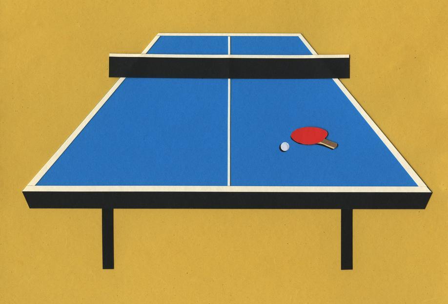 Ping Pong Table Aluminium Print