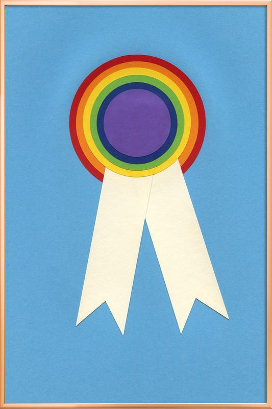 Pride -Poster im Alurahmen
