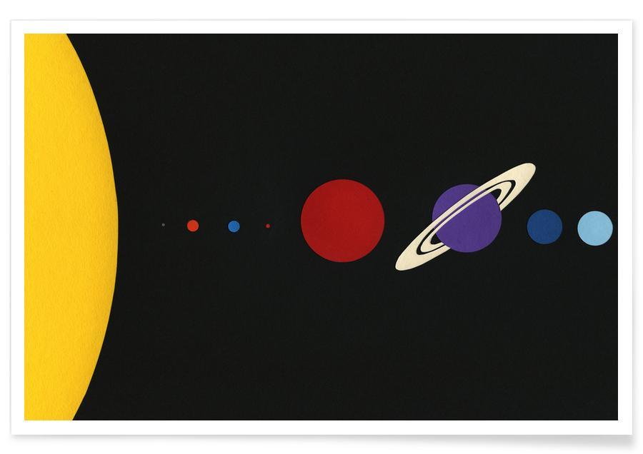 Kinderzimmer & Kunst für Kinder, Solar System -Poster